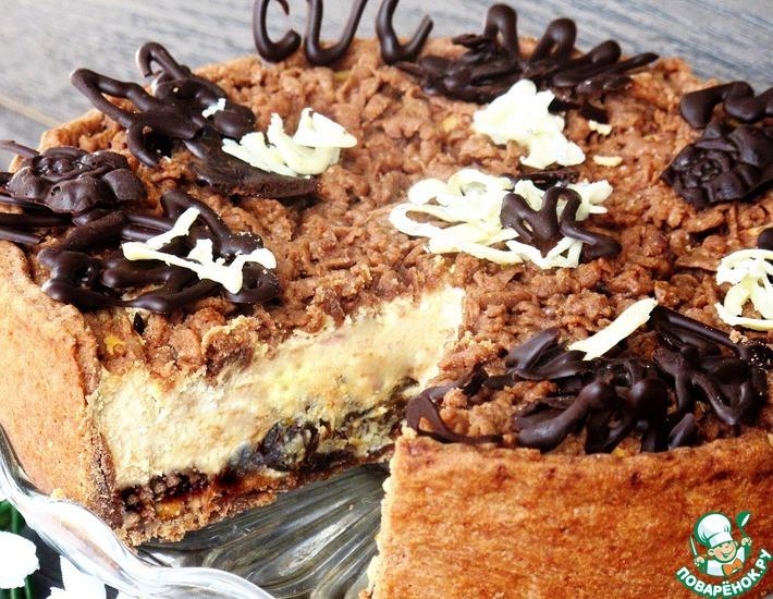 Рецепт: Карамельный сырник с черносливом