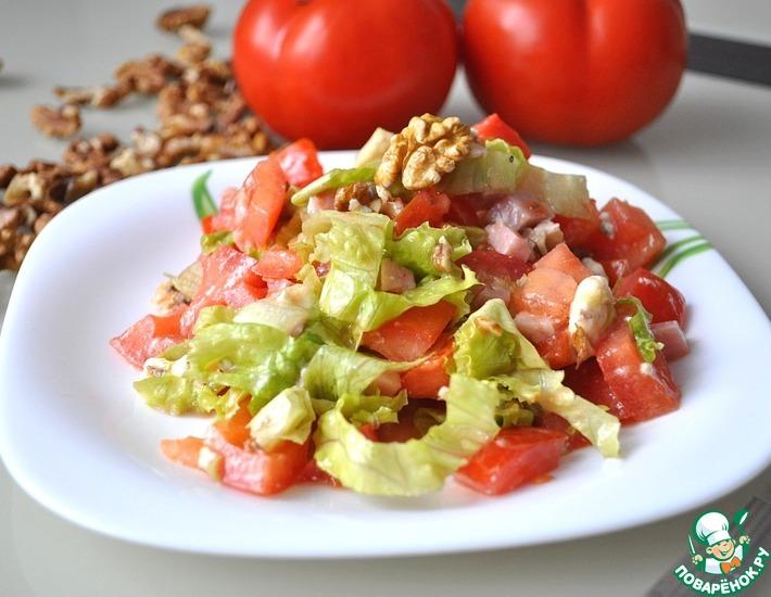 Рецепт: Салат с голубым сыром и ветчиной