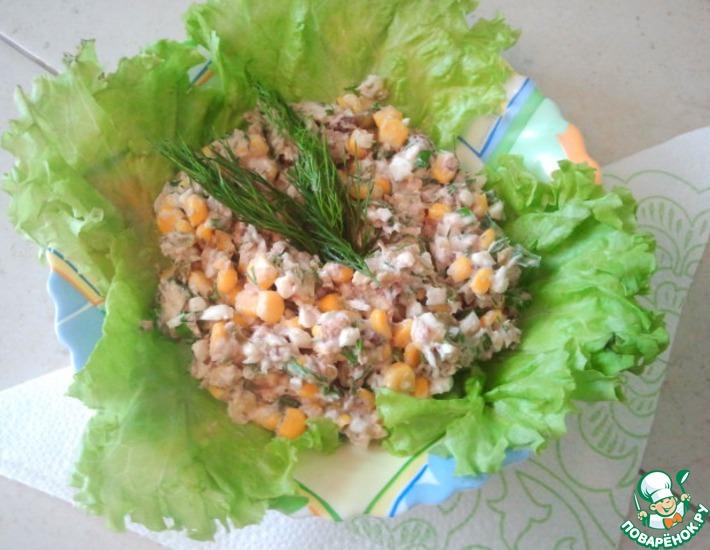 Рецепт: Салатик рыбный