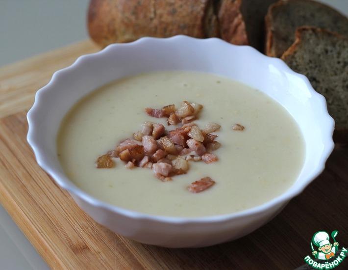 Рецепт: Картофельный суп-пюре с сыром и беконом