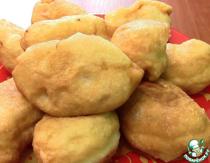 Рецепт: Дрожжевые жареные пирожки с капустой