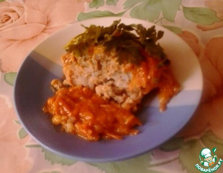 Рецепт: Рисовые тефтели в томатно-сметанном соусе