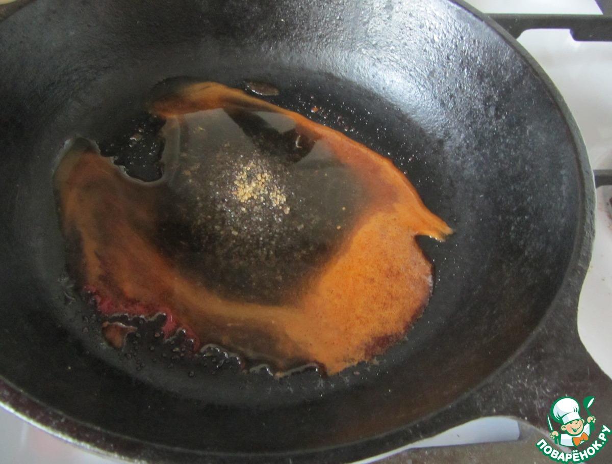 Мягкий грильяж из кунжута и конфитюра