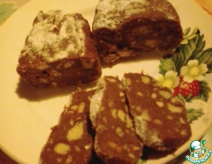 Рецепт: Шоколадная колбаска Наслаждение