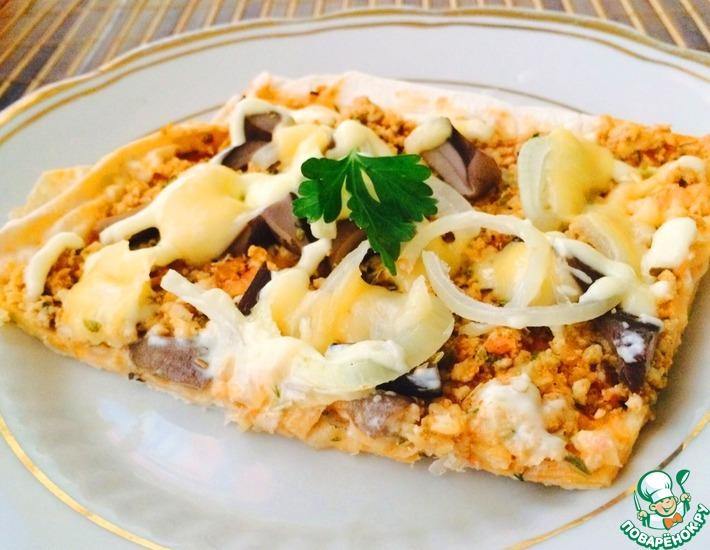 Рецепт: Пицца за 20 минут на тонком лаваше