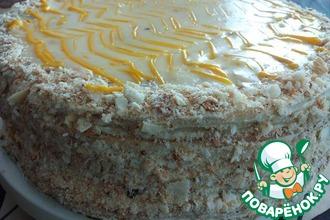 Рецепт: Манговый торт Наполеон