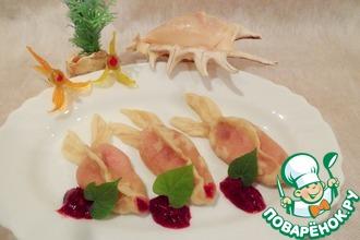 Рецепт: Творожно-вишневые вареники Рыбка моя