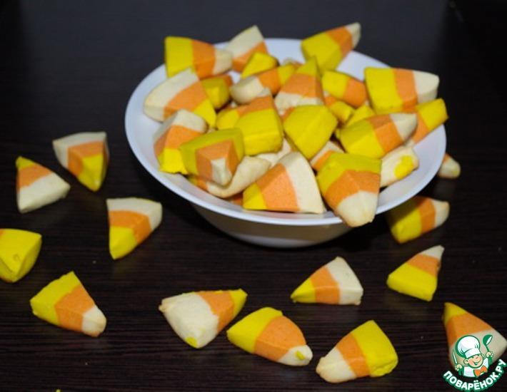 Рецепт: Печенье Сладкая кукуруза для Хэллоуина