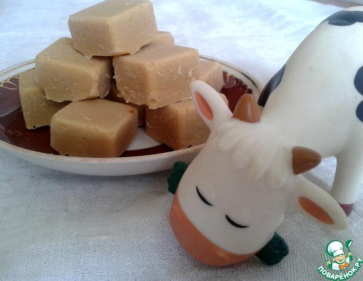 Рецепт: Домашние конфеты Коровка