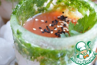 Рецепт: Напиток томатный «Холодный, бодрящий»