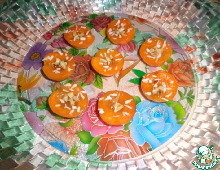 Рецепт: Желе из киви в абрикосовых дольках