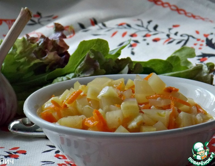 Рецепт: Хрустящий кабачковый салат