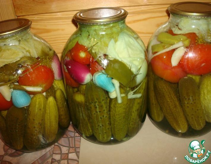 Рецепт: Овощное ассорти на зиму