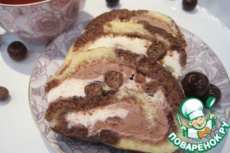 Рецепт: Рулет-мороженое Арктический ролл