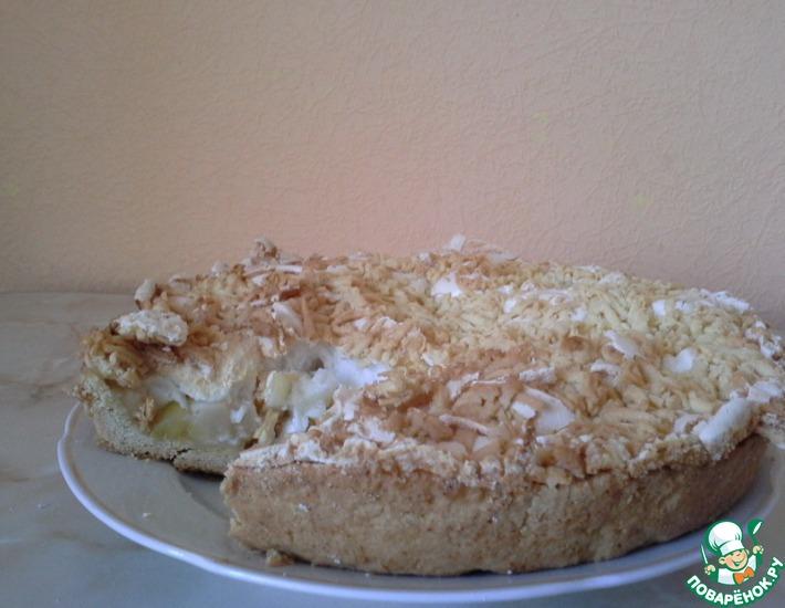 Рецепт: Нежный яблочный пирог