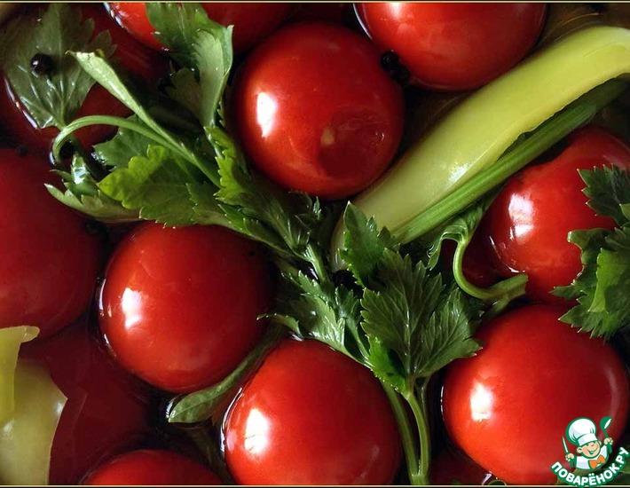 Малосольные фаршированные помидоры – кулинарный рецепт