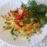 Картофель, запеченный в фольге с овощами