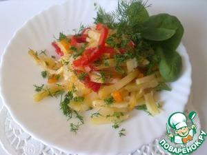 Рецепт Картофель запеченный в фольге, с овощами
