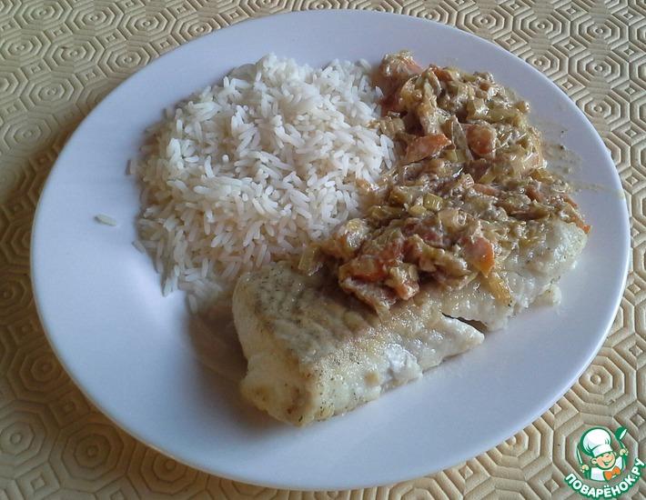 Рецепт: Сайда с соусом Фёндю (Fondue aux poireaux et carottes)
