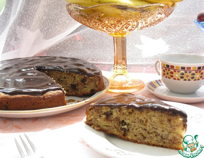 Рецепт: Банановый пирог с шоколадом