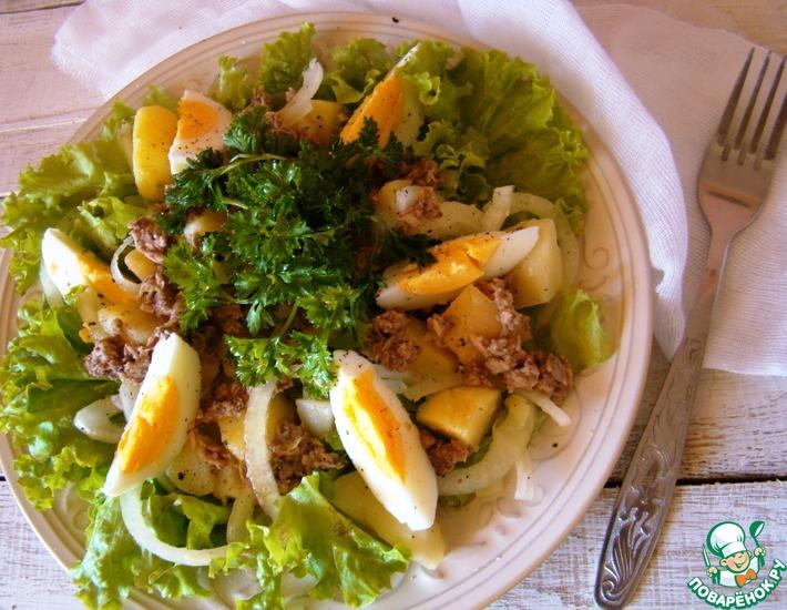Рецепт: Фирменный салат с тунцом от Нонны Гришаевой