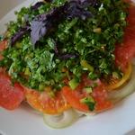 Салат Летний с картофелем и помидором