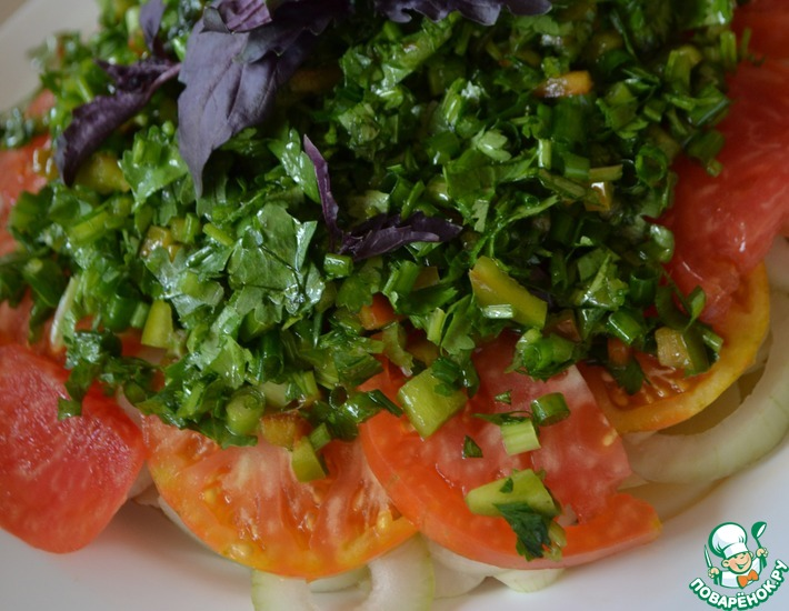 Рецепт: Салат Летний с картофелем и помидором