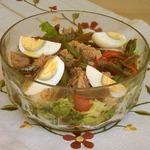 Салат Нисуаз с курицей, пошаговый рецепт с фото
