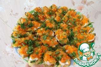 Рецепт: Кабачки с овощами по бабушкиному рецепту