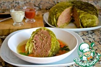 Рецепт: Тушеная савойская капуста