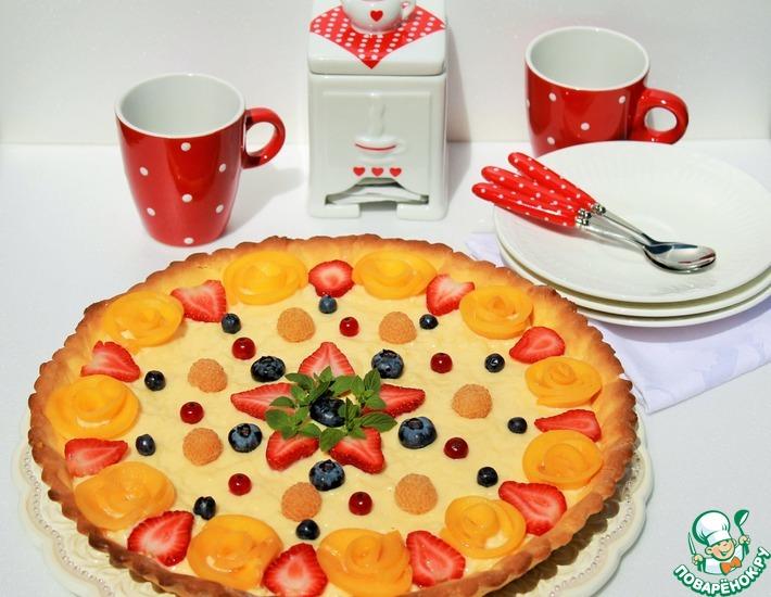 Рецепт: Тарт с ягодой и кремом Патисьер