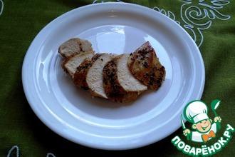 Рецепт: Куринное филе в панировке из смеси перцев