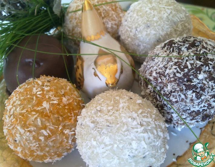 Рецепт: Фруктовые конфеты Лёгкая свежесть