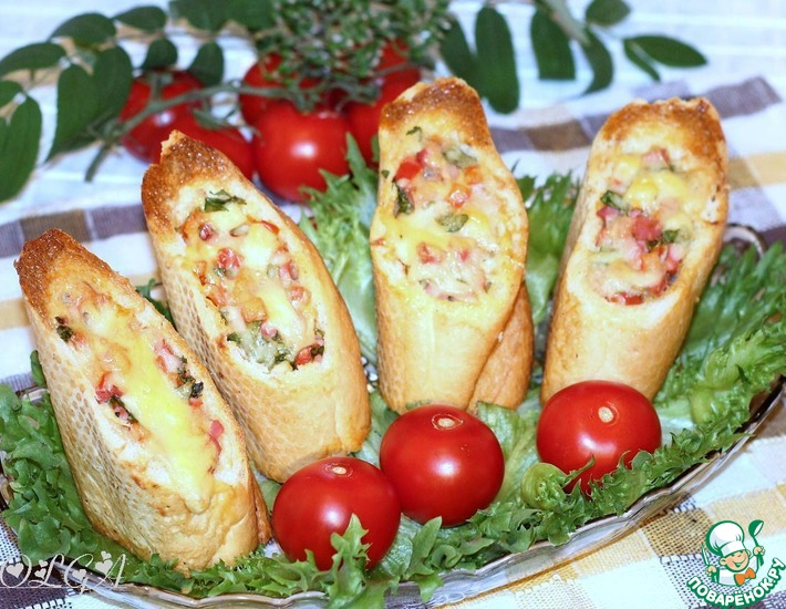 Рецепт: Хлебные стаканчики из багета