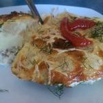 Омлет с креветками и цветной капустой