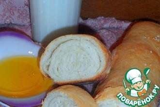 Рецепт: Домашний хлеб-рулет с оливковым маслом