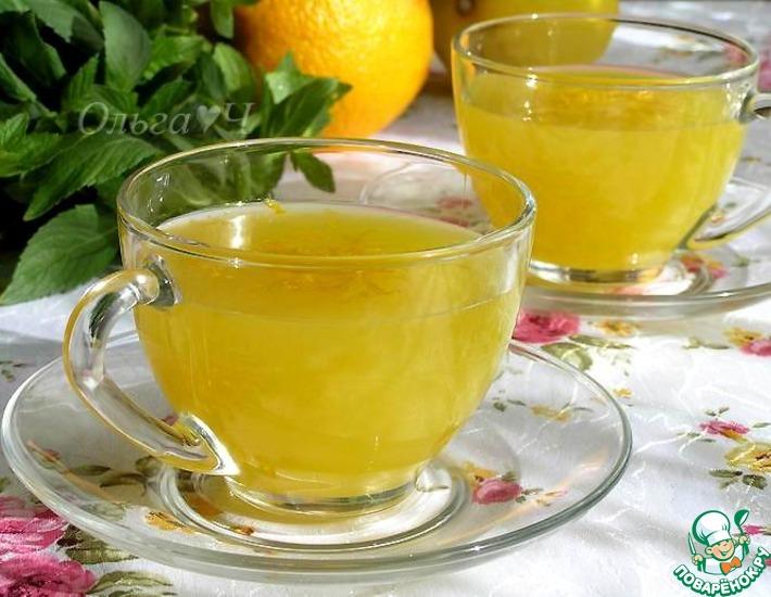 Рецепт: Апельсиновый кисель с лимоном