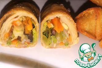 Рецепт: Спринг роллы (лумпия) с овощами и тесто для них