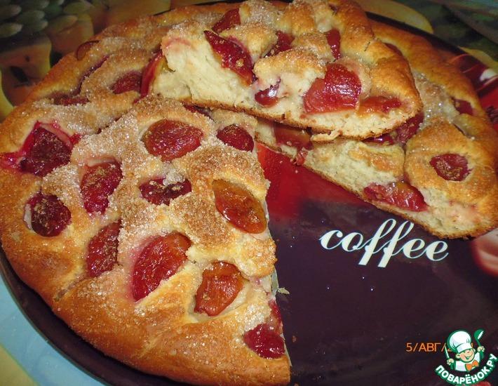 Рецепт: Пирог со сливами Вкуснота