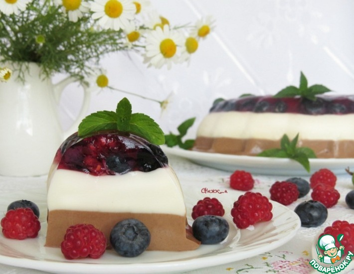 Диетический сливочно-шоколадный десерт