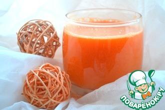 Рецепт: Фреш Морковь-яблоко-огурец-салат