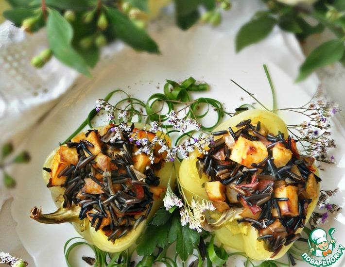 Рецепт: Фаршированный перец Болгарские лодочки