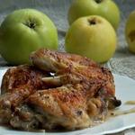 Курица в яблочном соке