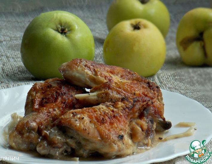 Рецепт: Курица в яблочном соке