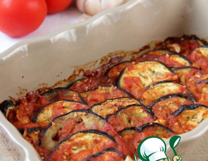 Рецепт: Баклажаны, запеченные под томатно-коричным соусом