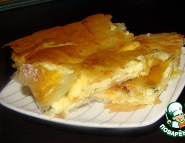 Рецепт: Сырный пирог из теста фило