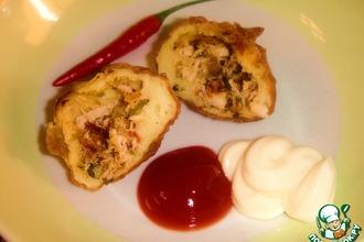 Рецепт: Куриные пирожки-coxinha Бразилиа