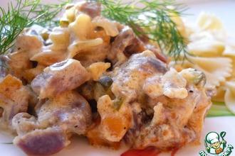 Рецепт: Желудки куриные Сытные