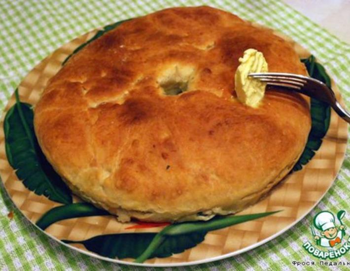 Рецепт: Осетинский пирог с зеленью