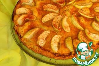 Рецепт: Яблочный пирог с овсяными хлопьями